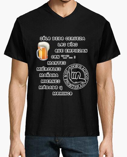 Tee-shirt ne boire que de la bière les jour en commençant par m