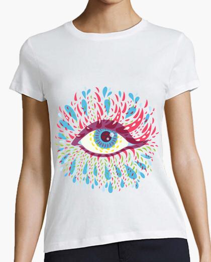 Tee-shirt oeil psychédélique bleu bizarre