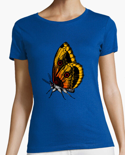 Tee-shirt Papillon orange jaune