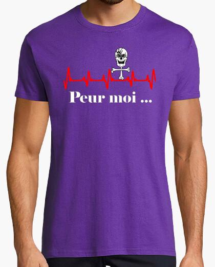 Tee-shirt Peur moi électrocardiogramme rouge FS
