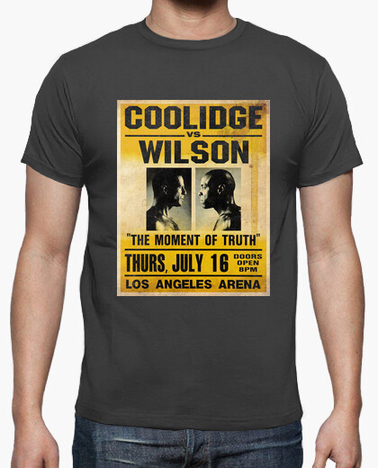 Tee-shirt Pulp Fiction: Coolidge vs. Wilson