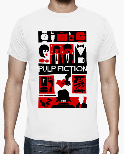 Tee-shirt Pulp Fiction (Saul Bass Style)