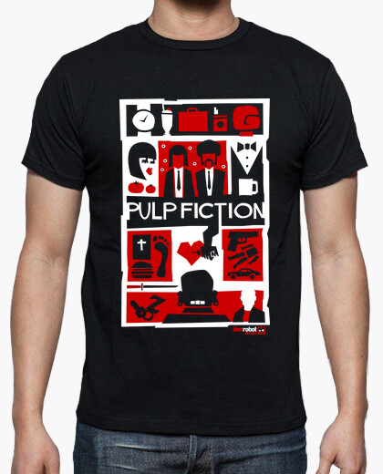 Tee-shirt Pulp Fiction (Saul Bass Style) 2