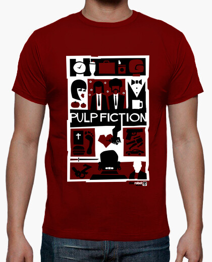 Tee-shirt Pulp Fiction (Saul Bass Style) 3
