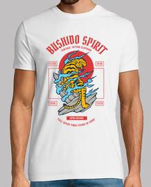 tee-shirt retro guerrier vintage japon guerrier samouraï