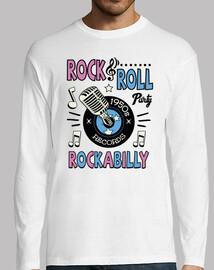 tee-shirt retro rock and roll vintage rockabilly musique USA rockers des années 1950