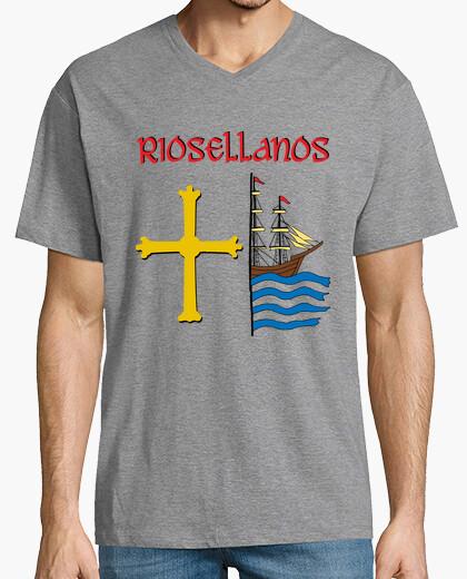 Tee-shirt riosellanos, fond clair. homme,...