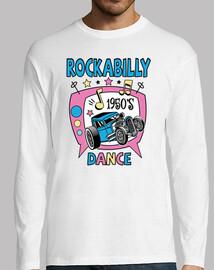 tee-shirt rockabilly musique des années 1950 rock and roll vintage hotrod USA fifties