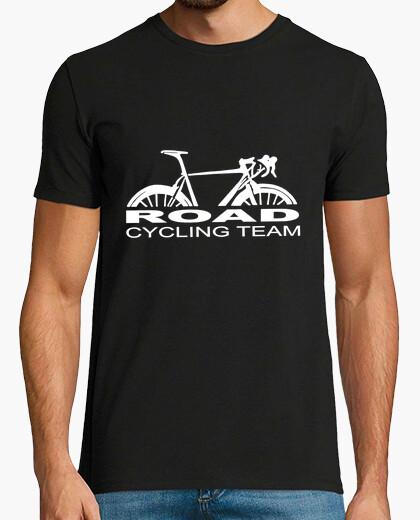 Tee-shirt route équipe cycliste blanc