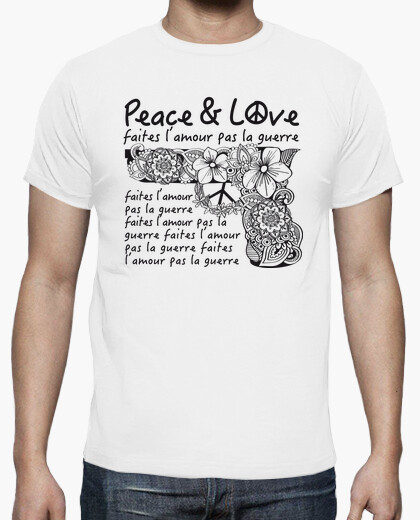 Tee-shirt Savoie lactée Peace and love
