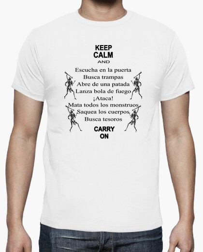 Tee-shirt shirt roleplay - keep le calm -