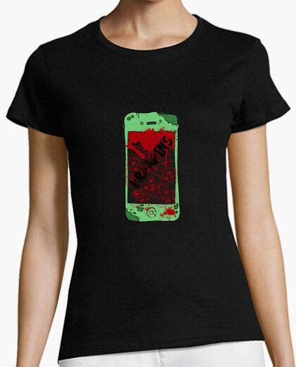 Tee-shirt t-shirt zombiephone femme
