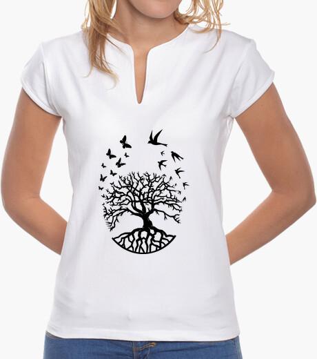 Tee-shirt t shirt arbre vie femme Mao sagesse harmonie FC