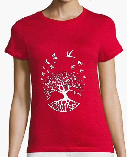 Tee-shirt t shirt arbre vie femme sagesse harmonie FS
