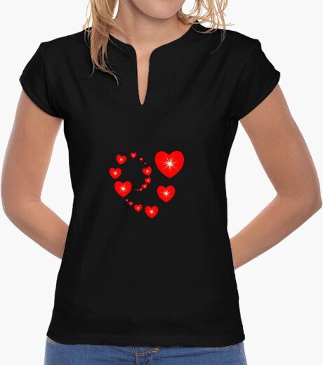 Tee-shirt t shirt coeur rouge amour