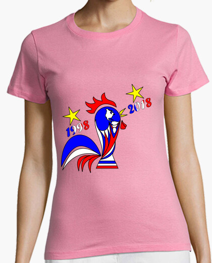 Tee-shirt t shirt coupe du monde football 2018 femme