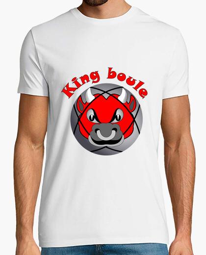 Tee-shirt t shirt king boule roi pétanque tireur boules
