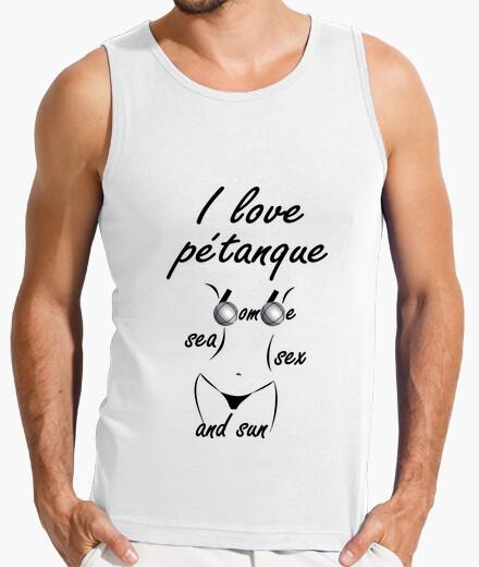 Tee-shirt t shirt petanque humour sea sex sun homme