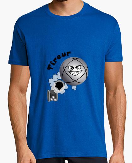 Tee-shirt t shirt pétanque tireur enfant boule existe en pointeur N
