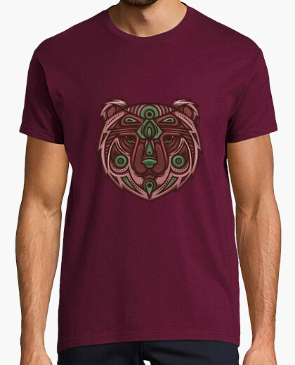 Tee-shirt TOTEM Ours Tribal Cuivre