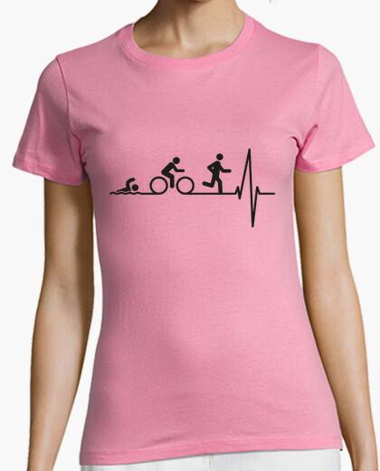 Tee-shirt triathlon dans le coeur