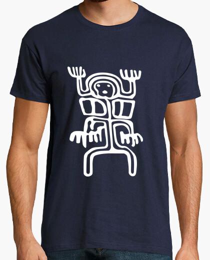 Tee-shirt Tribal Petroglyphe Alien Blanc 2