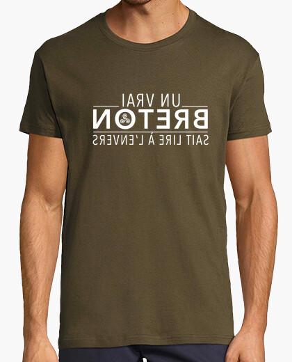 Tee-shirt Un vrai Breton sait lire à l'envers