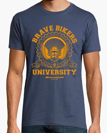 Tee-shirt universitaires courageux cyclistes
