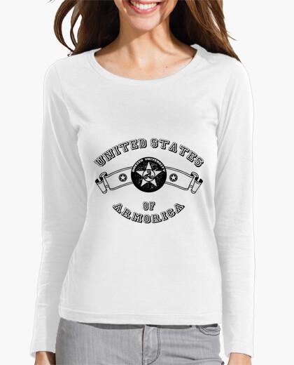 Tee-shirt University - femme manche longue