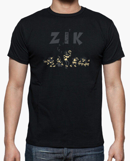 Tee-shirt Zik Band noir by Stef