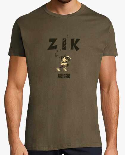 Tee-shirt Zik Bassiste army by Stef