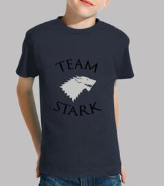 tee shirt bambino stark squadra - game of thrones