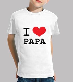 tee shirt bambino: ti amo papà