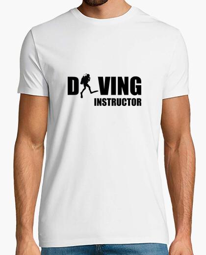 Tee shirt dive man, white, top quality t-shirt