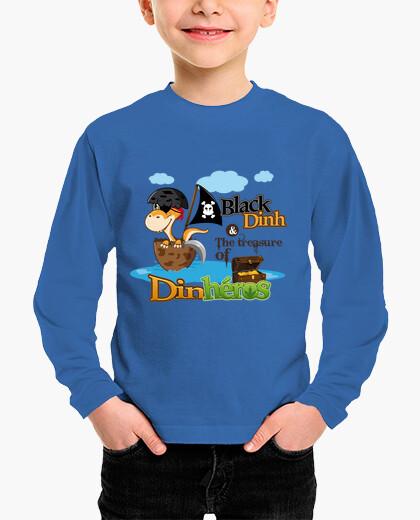 Vêtements enfant Tee Shirt enfant Black Dinh Dinosaure pirate