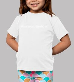 Tee shirt enfant, manche courte, blanc