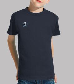 Tee shirt enfant, manche courte, bleu marine