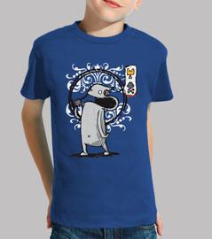 Tee shirt enfant, manche courte, bleu royal