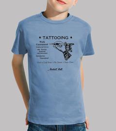 Tee shirt enfant, manche courte, céleste