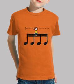 Tee shirt enfant, manche courte, orange
