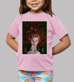Tee shirt enfant, manche courte, rose