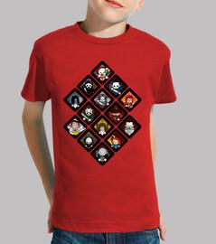 Tee shirt enfant, manche courte, rouge