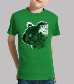 Tee shirt enfant, manche courte, vert