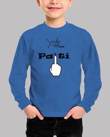 Tee shirt enfant, manche longue, bleu royal