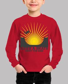 Tee shirt enfant, manche longue, rouge