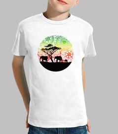 tee shirt famille elephants