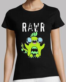 tee shirt femme, dinosaure,cute, mignon, rawr!