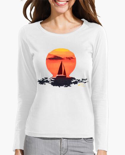 Tee-shirt Tee shirt femme, manche longue, blanc