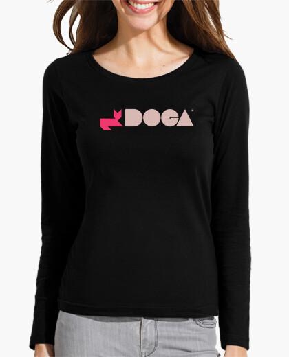 Tee-shirt Tee shirt femme, manche longue, noir