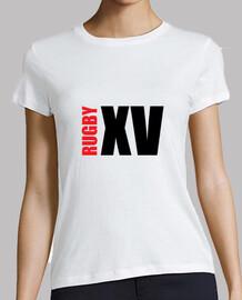 Tee shirt femme Rugby, blanc, qualité supérieure